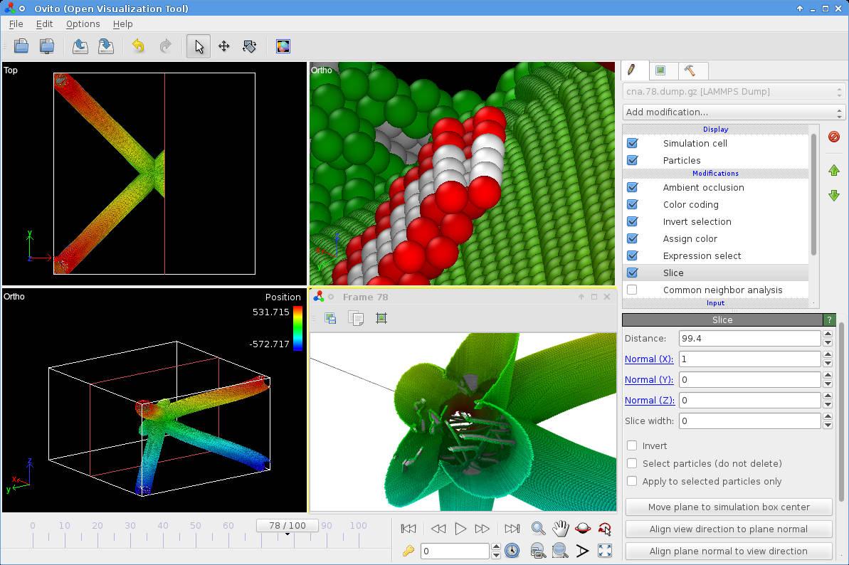OVITO – Open Visualization Tool – Scientific visualization and